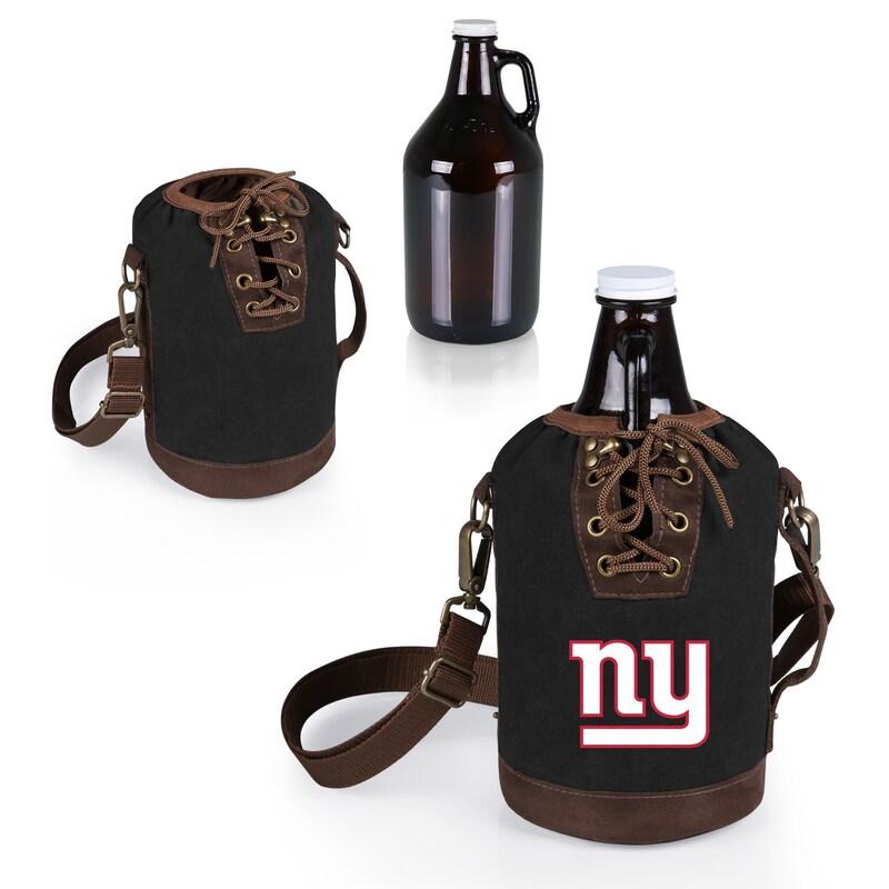 New York Giants Growler Tote with 64oz. Growler - Black