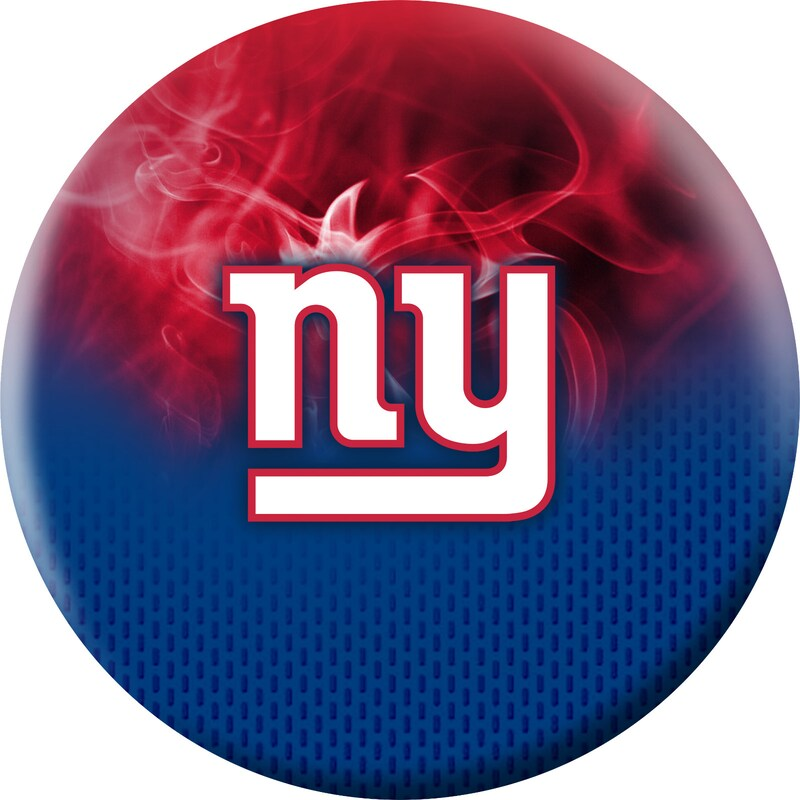 New York Giants NFL On Fire Undrilled Bowling Ball