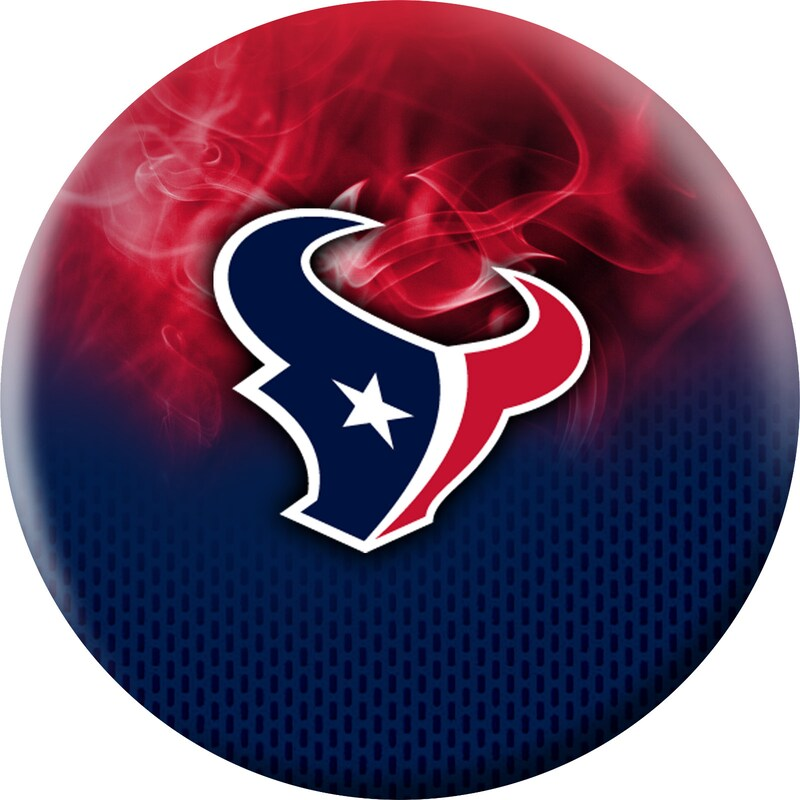 Houston Texans NFL On Fire Undrilled Bowling Ball