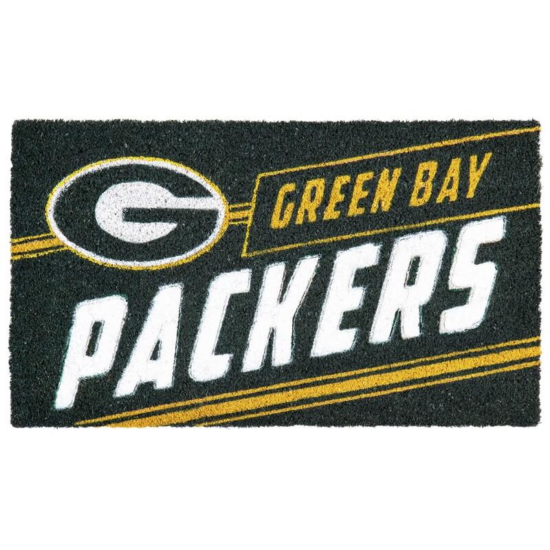 Green Bay Packers 16'' x 28'' Coir Punch Mat