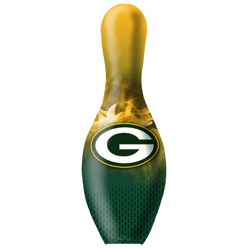 Green Bay Packers NFL On Fire Bowling Pin