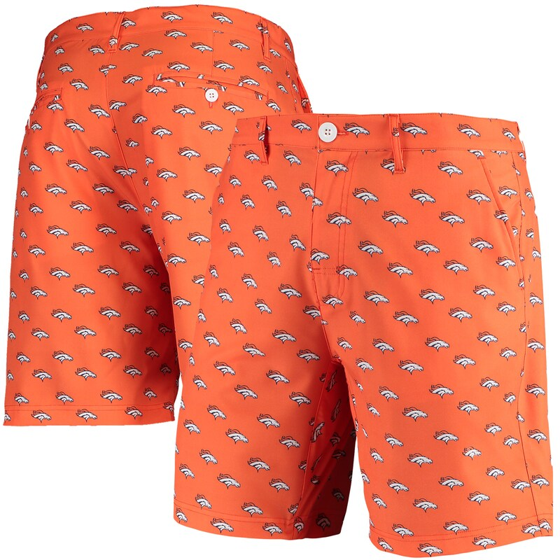 Denver Broncos Repeat Logo Hybrid Shorts - Orange