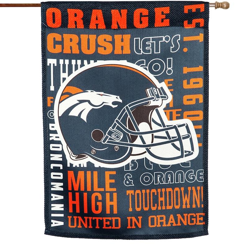 Denver Broncos 28'' x 30'' Fan Favorite Embossed House Flag