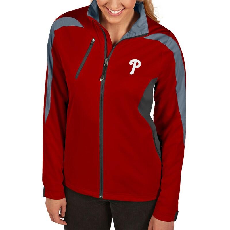 Philadelphia Phillies Antigua Women's Discover Full-Zip Jacket - Red