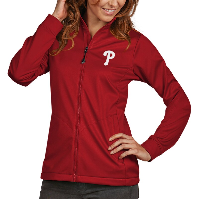 Philadelphia Phillies Antigua Women's Golf Full-Zip Jacket - Red