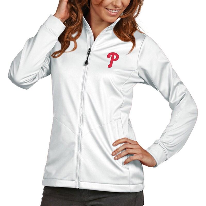 Philadelphia Phillies Antigua Women's Golf Full-Zip Jacket - White
