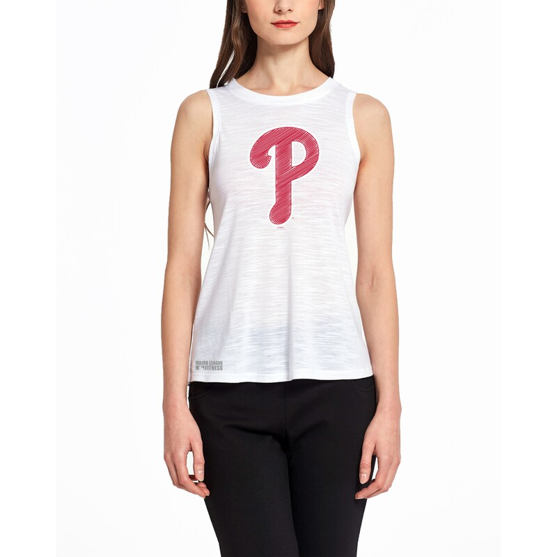 Philadelphia Phillies Concepts Sport Women's Infuse Knit Tank Top - White
