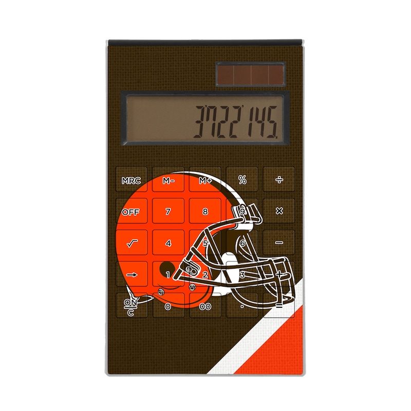Cleveland Browns Diagonal Stripe Desktop Calculator