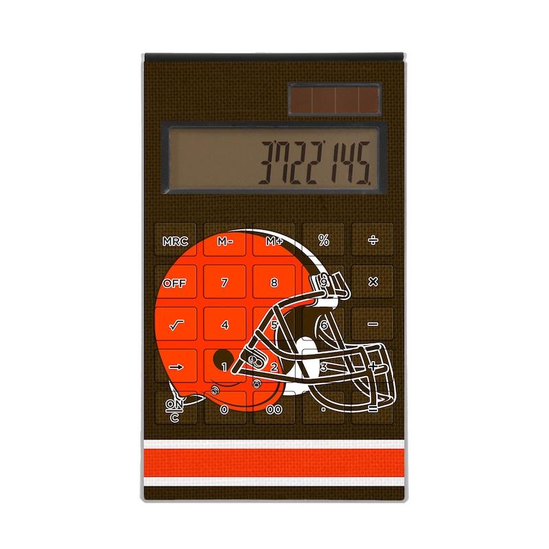 Cleveland Browns Stripe Design Desktop Calculator