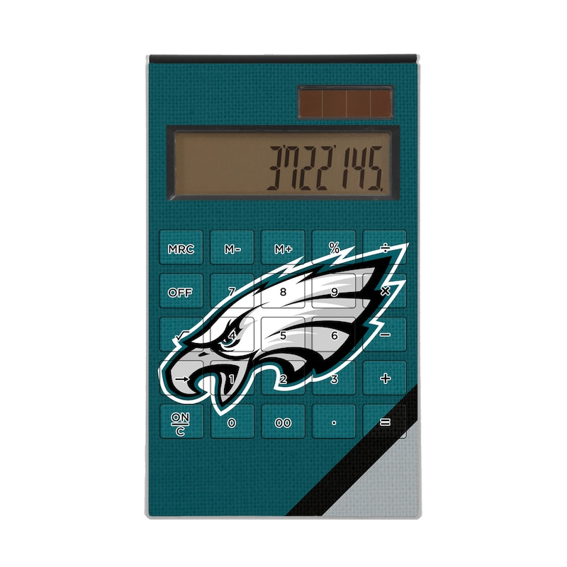 Philadelphia Eagles Diagonal Stripe Desktop Calculator