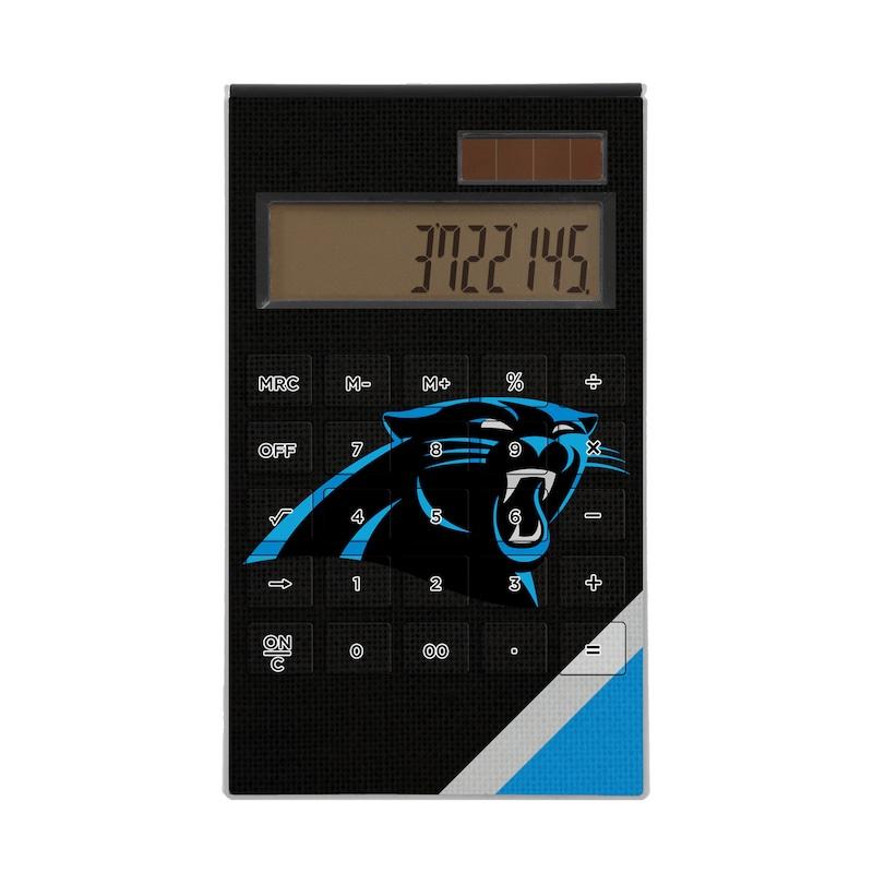 Carolina Panthers Diagonal Stripe Desktop Calculator