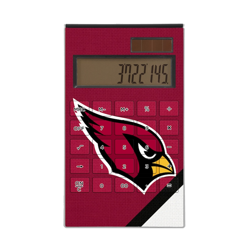 Arizona Cardinals Diagonal Stripe Desktop Calculator