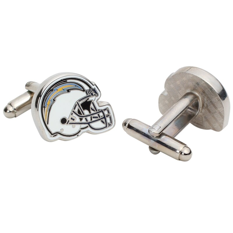 Los Angeles Chargers Silver-Plated Team Logo Helmet Cufflinks
