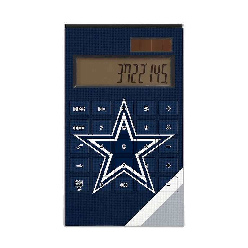 Dallas Cowboys Diagonal Stripe Desktop Calculator