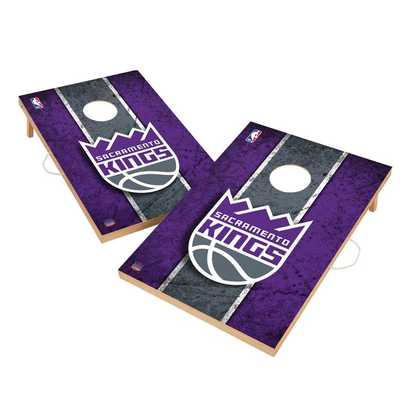 Sacramento Kings 2' x 3' Solid Wood Cornhole Board Tailgate Toss Set