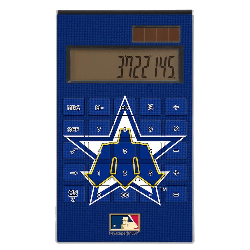 Seattle Mariners 1981-1986 Cooperstown Solid Design Desktop Calculator
