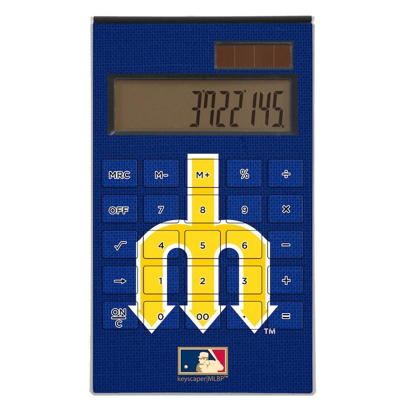 Seattle Mariners 1977-1980 Cooperstown Solid Design Desktop Calculator