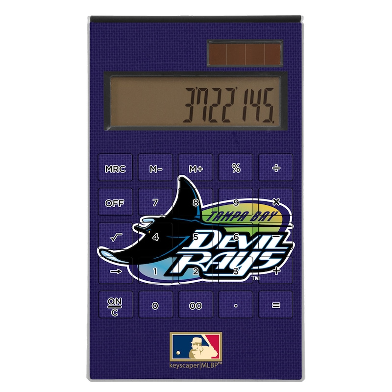Tampa Bay Rays 1998-2000 Cooperstown Solid Design Desktop Calculator