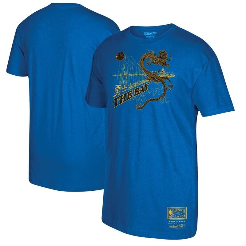 Golden State Warriors Mitchell & Ness Bay Bridge Hometown T-Shirt - Royal