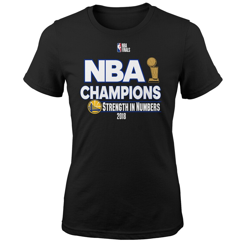 Golden State Warriors Girls Youth 2018 NBA Finals Champions Strength In Numbers T-Shirt - Black
