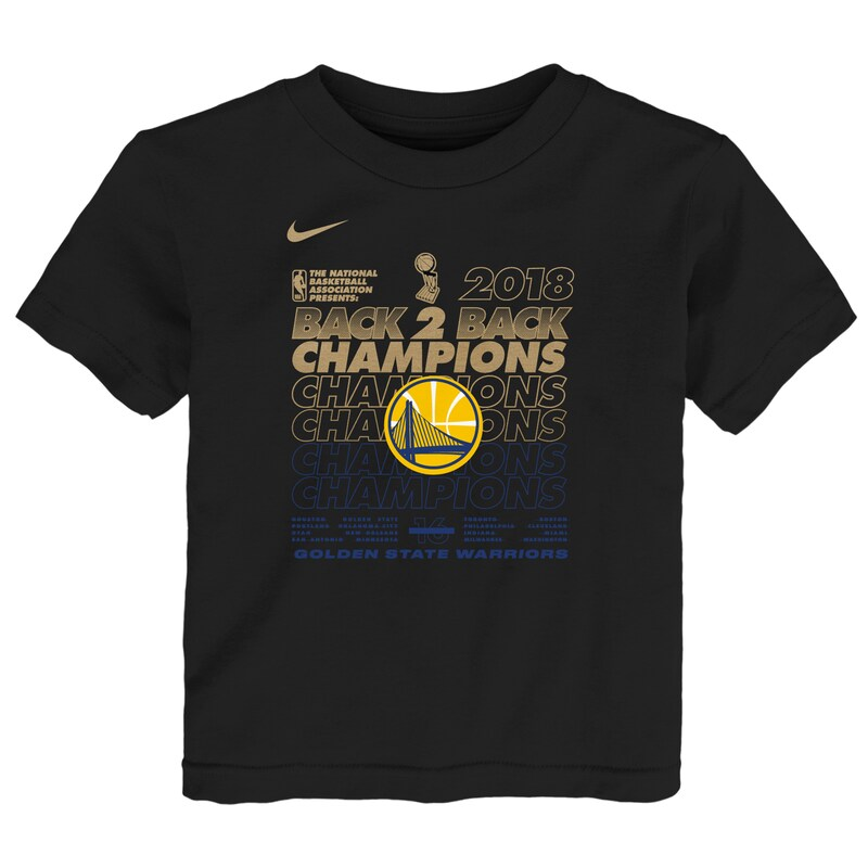 Golden State Warriors Nike Preschool 2018 NBA Finals Champions Locker Room T-Shirt - Black