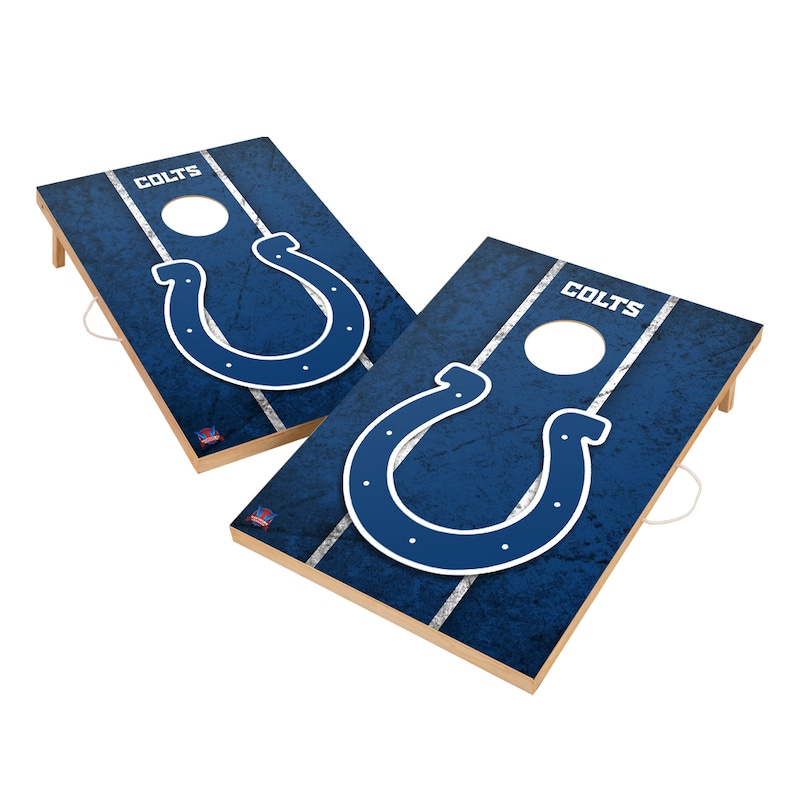 Indianapolis Colts 2' x 3' Vintage Cornhole Board Tailgate Toss Set