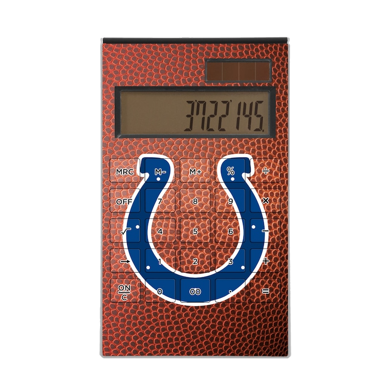 Indianapolis Colts Football Design Desktop Calculator
