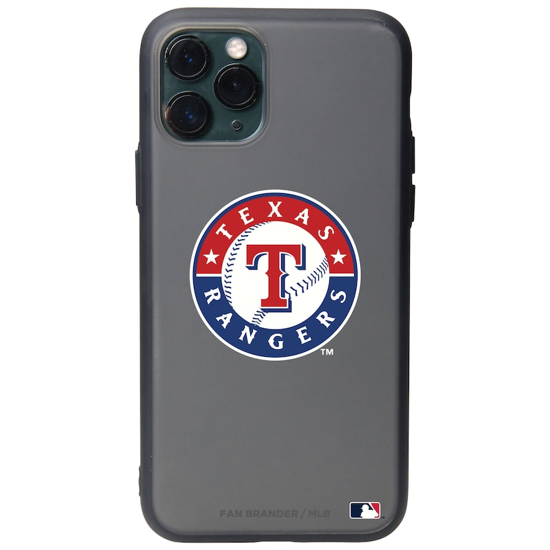 Texas Rangers Black Slate Primary Mark iPhone Case
