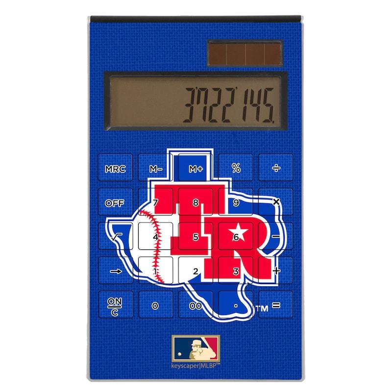 Texas Rangers 1981-1983 Cooperstown Solid Design Desktop Calculator