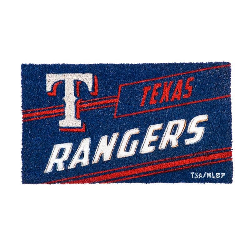 Texas Rangers 16'' x 28'' Coir Punch Mat