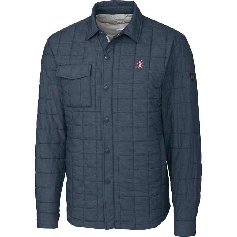 Boston Red Sox Cutter & Buck Big & Tall Rainier Shirt Jacket - Charcoal
