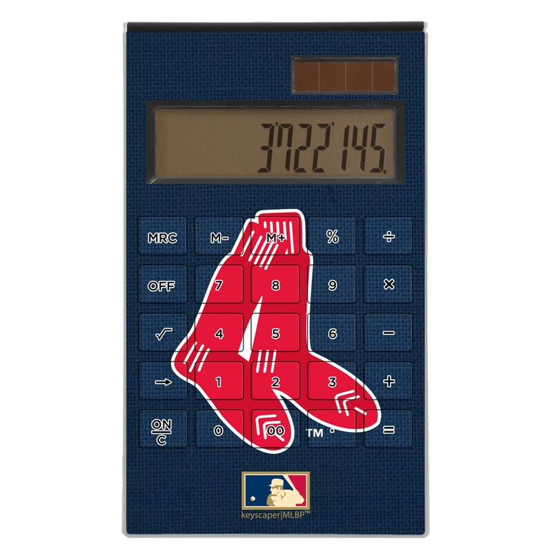 Boston Red Sox 1924-1960 Cooperstown Solid Design Desktop Calculator