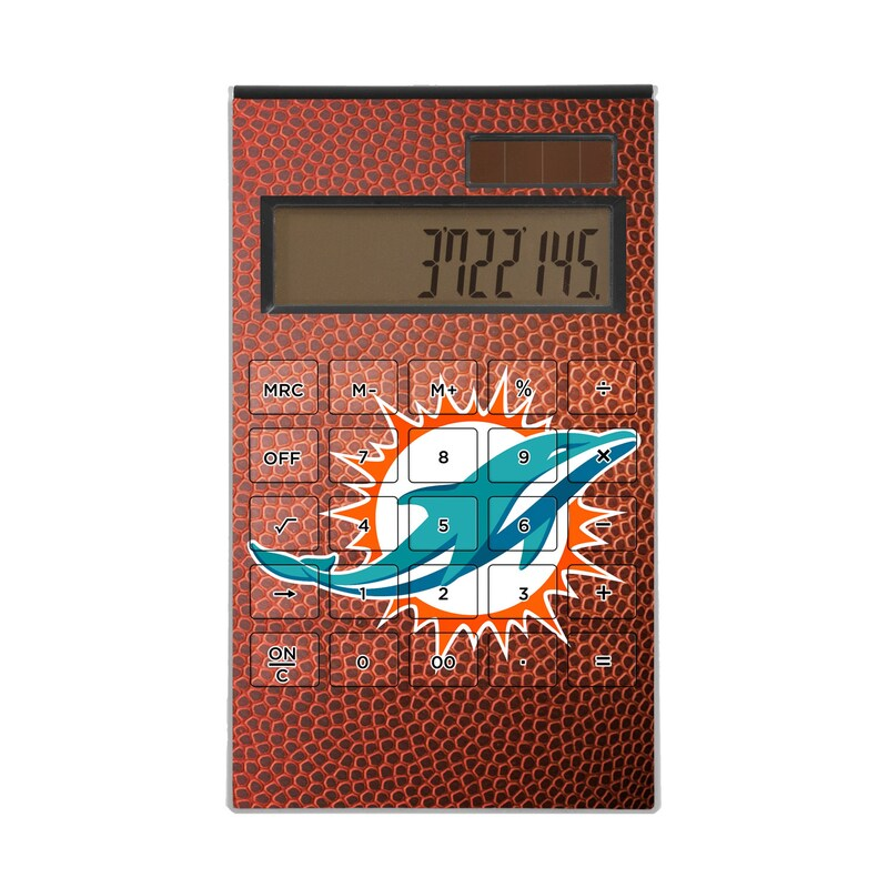 Miami Dolphins Football Design Desktop Calculator