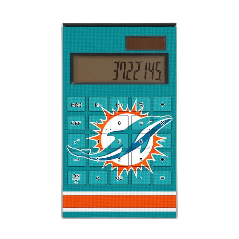 Miami Dolphins Stripe Design Desktop Calculator