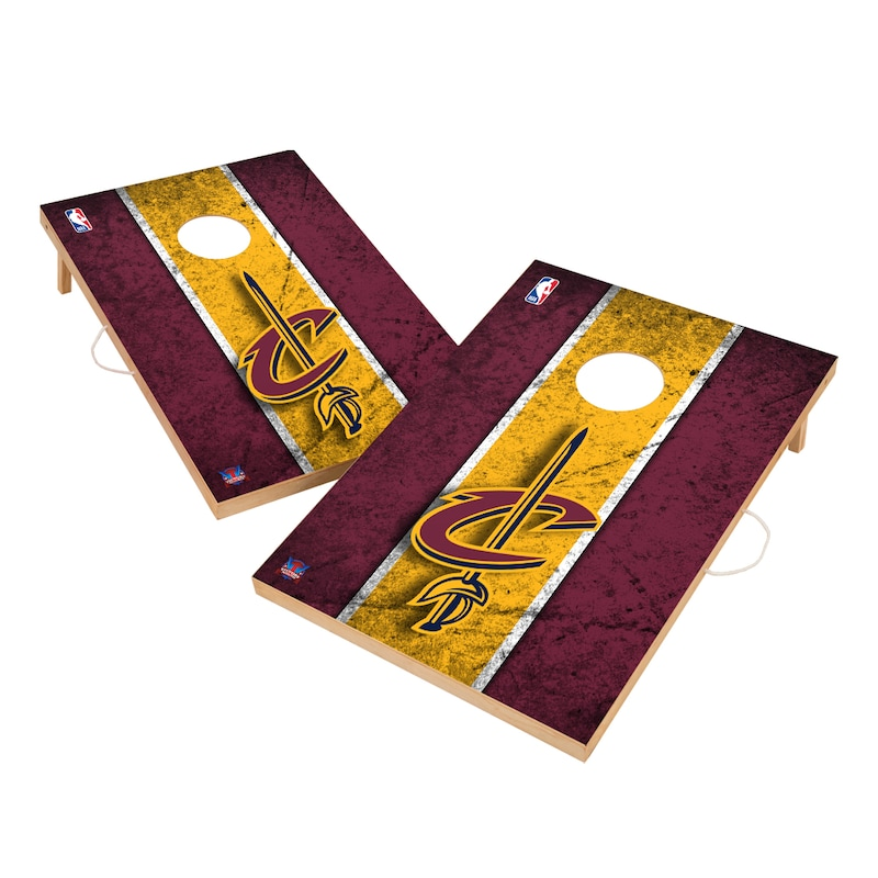 Cleveland Cavaliers 2' x 3' Solid Wood Cornhole Board Tailgate Toss Set
