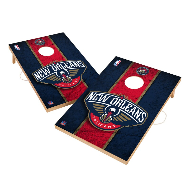 New Orleans Pelicans 2' x 3' Solid Wood Cornhole Board Tailgate Toss Set