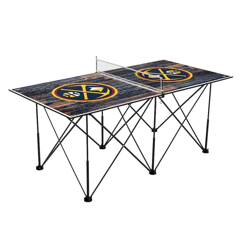 Denver Nuggets 6' Weathered Design Pop Up Table Tennis Set