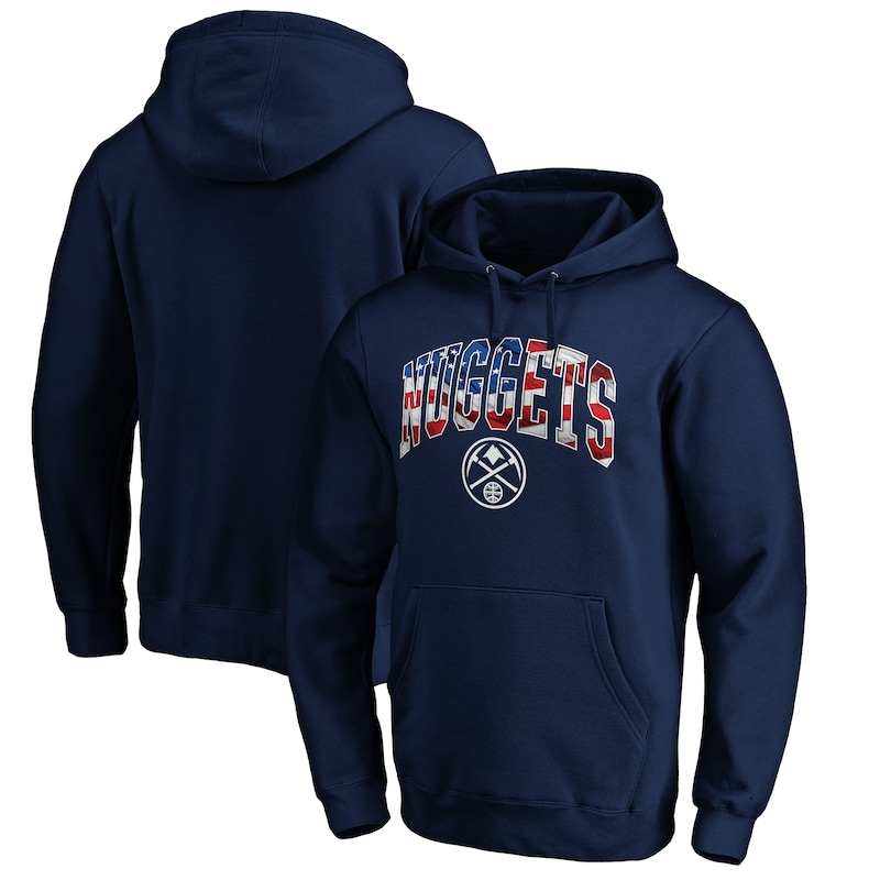Denver Nuggets Fanatics Branded Banner Wave Pullover Hoodie - Navy