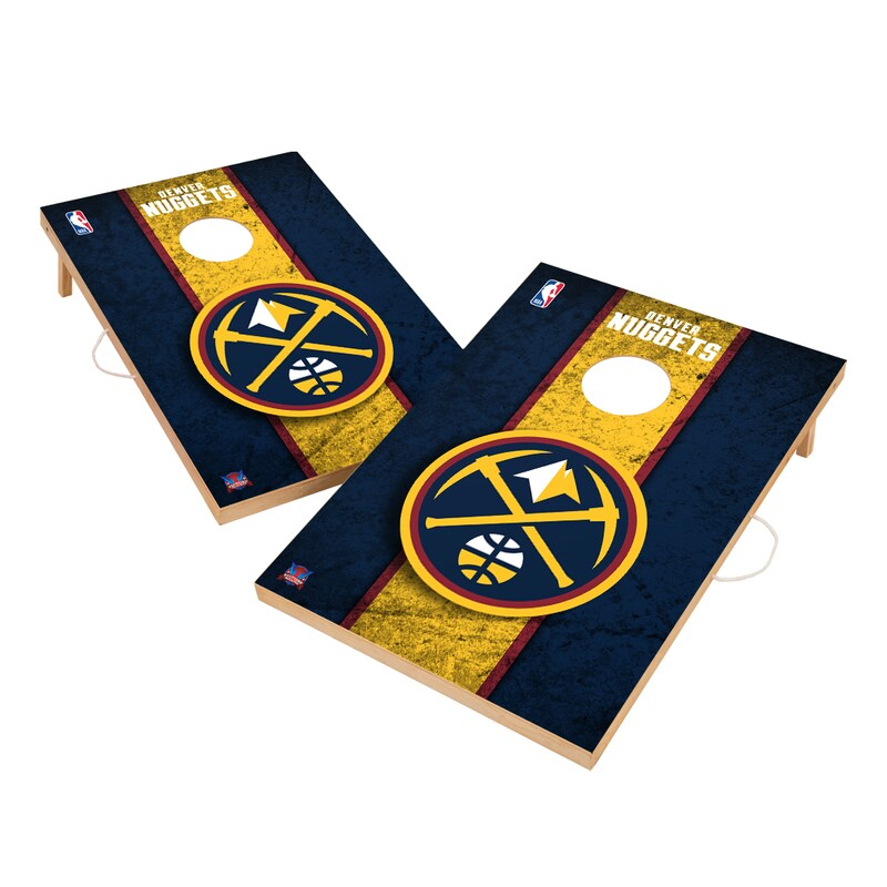 Denver Nuggets 2' x 3' Solid Wood Cornhole Board Tailgate Toss Set