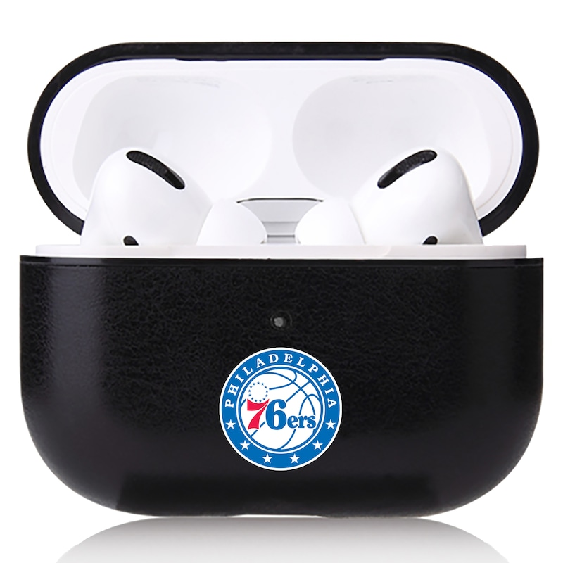 Philadelphia 76ers OtterBox Air Pods Leather Case - Black
