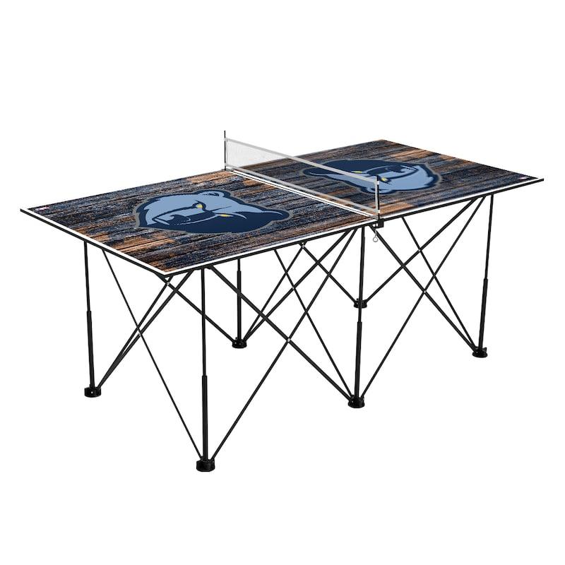 Memphis Grizzlies 6' Weathered Design Pop Up Table Tennis Set