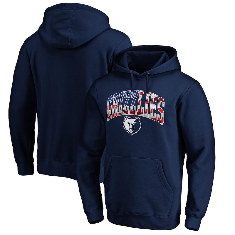 Memphis Grizzlies Fanatics Branded Banner Wave Pullover Hoodie - Navy