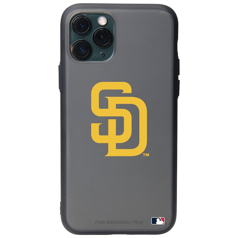 San Diego Padres Black Slate Primary Mark iPhone Case