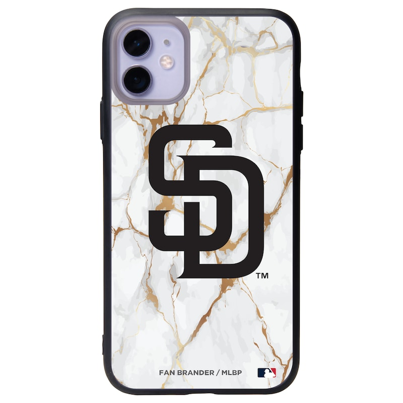 San Diego Padres Black Slate White Marble iPhone Case