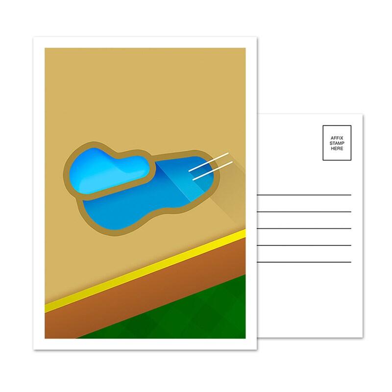 Arizona Diamondbacks Chase Field 5-Pack Minimalist Postcard Set