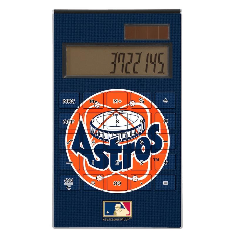 Houston Astros 1977-1998 Cooperstown Solid Design Desktop Calculator