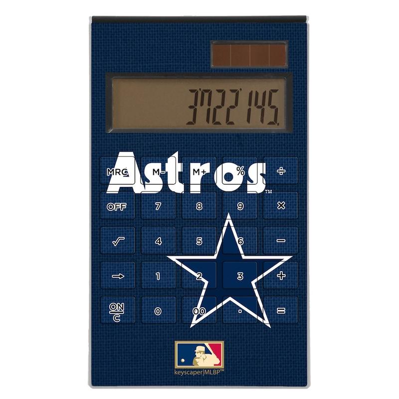Houston Astros 1975-1981 Cooperstown Solid Design Desktop Calculator