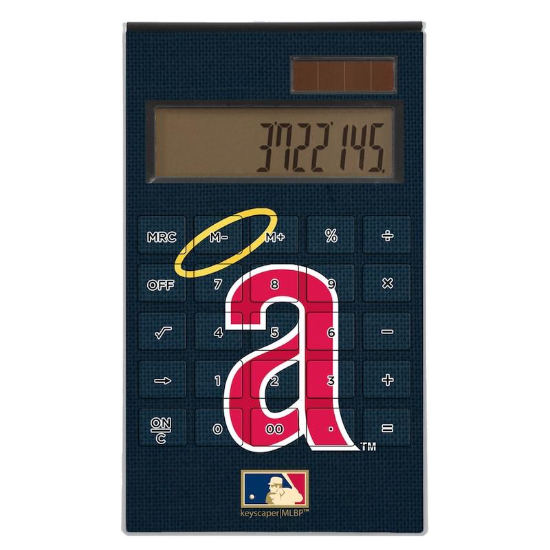 Los Angeles Angels 1971 Cooperstown Solid Design Desktop Calculator