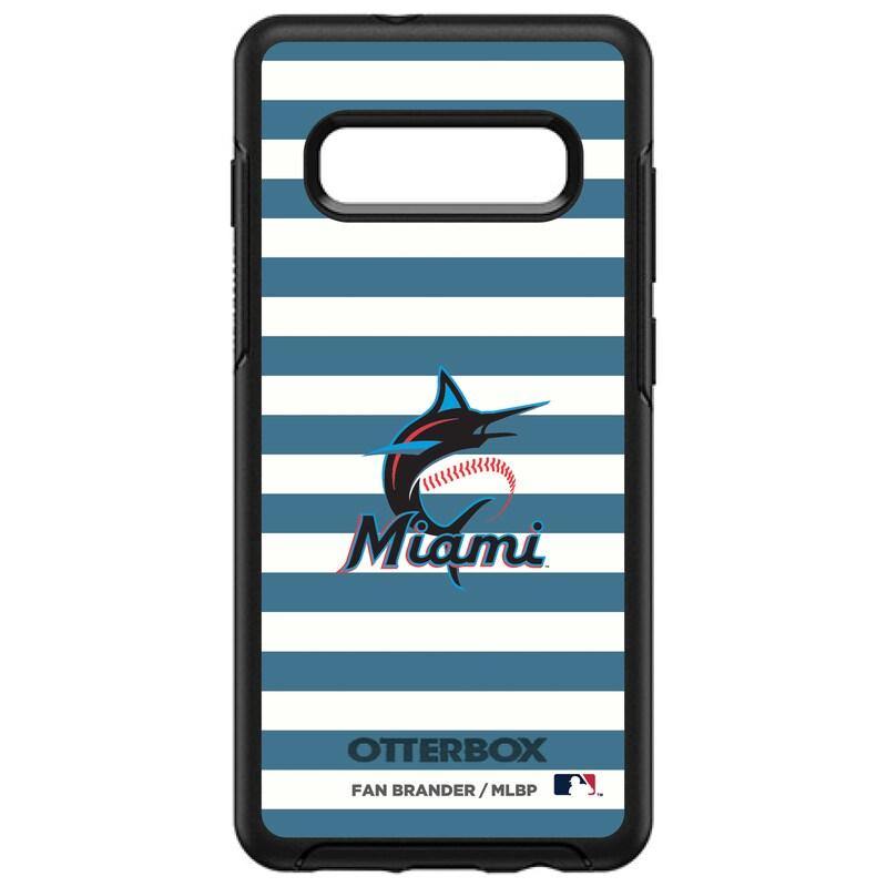 Miami Marlins OtterBox Galaxy Symmetry Series Stripes Case