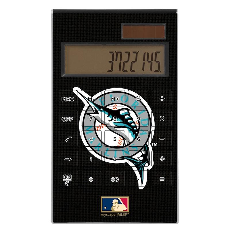 Miami Marlins 1993-2011 Cooperstown Solid Design Desktop Calculator